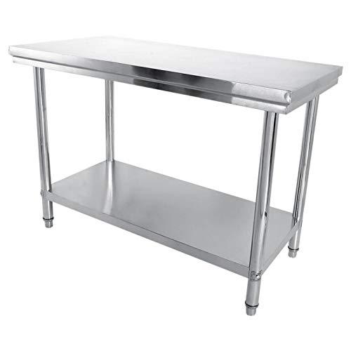 Emoshayoga 47'x 34' x 24'Fuerte Estabilidad Mesa de Corte antioxidante Mesa de Trabajo para casa de Fideos para Cocina