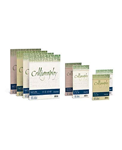 Favini 023049.17 Calligraphy Algae A4 Avorio, 50 Fogli, 90 Gr