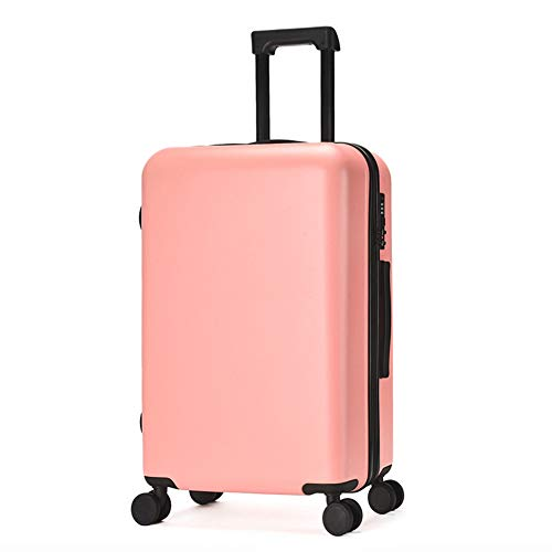 REWQ Business Gepäck Koffer, TSA Custom Code Lock 360 ° Silent Universal Laufrad, Trolley Kofferfach Superleichte ABS Hartschale-pink-24inch