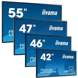 Flachbildschirm iiyama ProLite LH5580S, LFDs, LED-Hintergrundbeleuchtung, TFT Monitor, 16:9, 138,6cm (55 Zoll), 1920x1080 Pixel, 9ms, Helligkeit: 400cd, Blickwinkel: 178/178°(H/V), Kontrast: 1000:1, RS232, DVI, VGA, Display-Port, HDMI, inklusive Kabel (VGA, DVI), Netzkabel, QSG, Farbe: schwarz