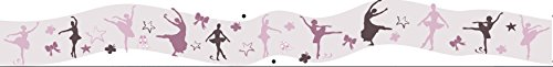 Plage 153107 Adhesivos de decoración - Cenefa Adhesiva Bailarinas, 1 Lámina 120 x 15 cm