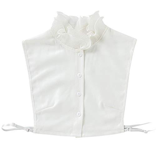 Tandou Schön Damen Blusenkragen Agaric Rüschen, Abnehmbare Krageneinsatz Für Pullover Accessoires
