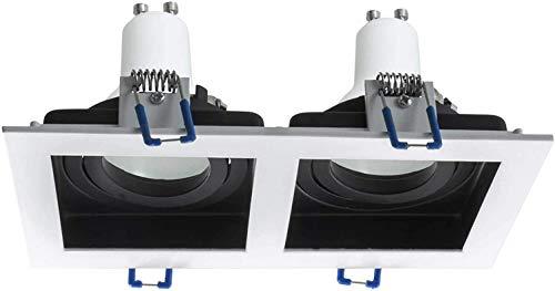 Faretto incasso bicolore orientabile LED 16W doppio supporto lampada GU10 230V