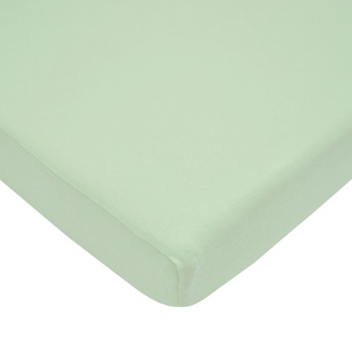 American Baby Company 100% Natural Cotton Value Jersey Knit Fitted Portable/Mini-Crib Sheet, Celery,...