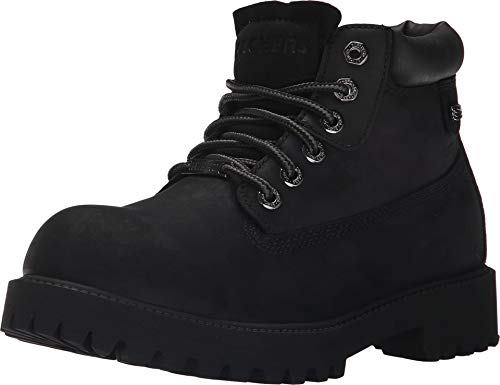 Skechers Men's Sergeants Verdict Chukka Boot,Black Waterproof Oiled Smooth Leather,10.5 M US