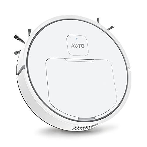 Robot Aspirador, robot inteligente de barrido perezoso máquina de limpieza automática Electrodomésticos Aspirador silencioso de bajo ruido para pelo de mascotas, alfombra