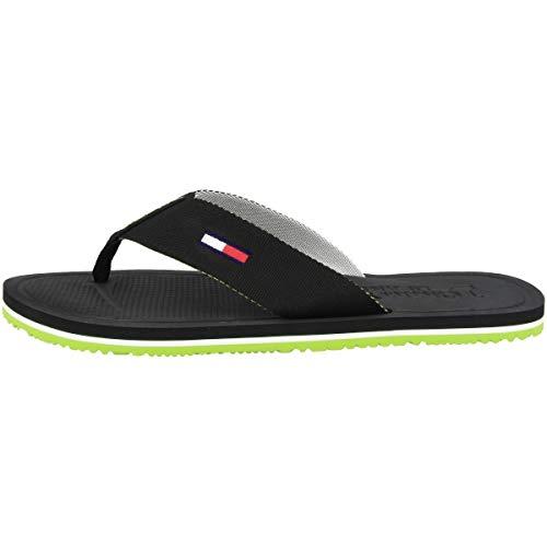 Tommy Hilfiger Comfort Footbed Beach Sandal, Chanclas Hombre, Negro (Black Bds), 42 EU