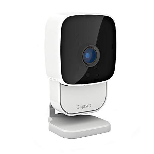 Gigaset camera 2.0 - Indoor-Überwachungskamera zum Schutz Ihres Hauses - Echtzeit-Videoübertragung in Full HD - Infrarot-Nachtsicht bis zu 6m - Tonaufnahme - 2-Wege-Audio (Walkie-Talkie) - weiß, white