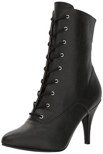 Pleaser Pink Label Enkellaars -44 Shoes- DREAM-1020 US 13 Zwart