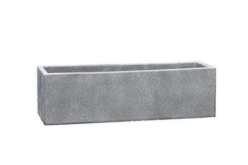 Vivanno Blumenkasten Balkonkasten Pflanzkasten Beton grau Flobo - 18x60x18 cm