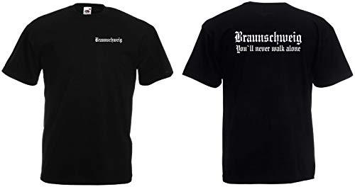 Braunschweig Herren T-Shirt Fan Ultras Schwarz M