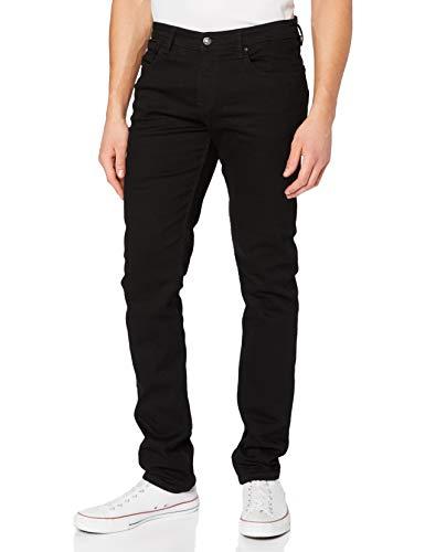 TOM TAILOR DENIM Herren Slim Piers Jeans, Schwarz (Black Denim 10240), 36W / 34L