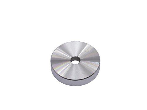 Omnitronic 10605271 Puck Singolo Adattatore 45 33 Giri di Alluminio Dargento