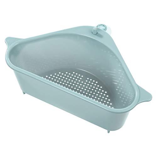Hemoton Waschbecken Filterablage Dreieck-Lagerregal küchensieb Abtropfsieb über die Spüle Caddy Schreibtisch Veranstalter für Küche Bad