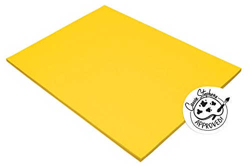Pacon Tru-Ray Construction Paper, 18-Inches by 24-Inches, 50-Count, Yellow (103068)