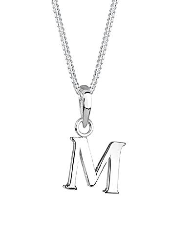 Elli Halskette Elli Damen Halskette Buchstabe M in 925 Sterling Silber