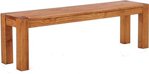 Brasilmöbel Sitzbank 130 cm Rio Kanto Honig Pinie Massivholz Esszimmerbank Küchenbank Holzbank - Größe und Farbe wählbar