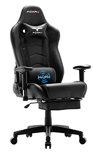 Ficmax Gaming Chair Massage Ergonomic Computer Gaming Chair Reclining Racing...