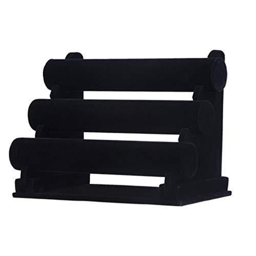 JYDQM Soporte de Pantalla de Tres Capas de Franela, Soporte de Pulsera, Soporte de Pulsera, diseño Negro Puro