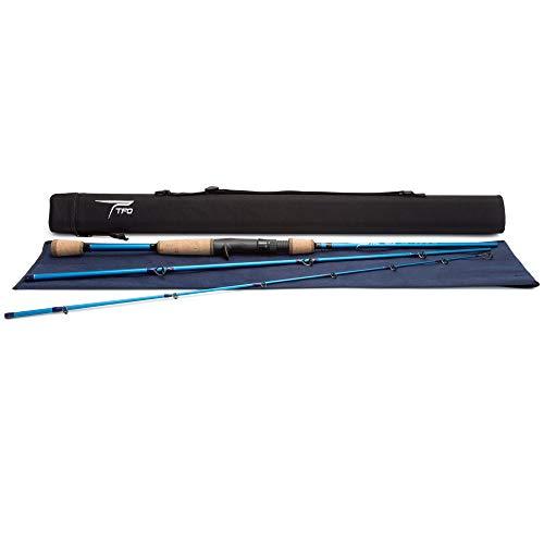 TFO Traveler 7.3 Foot 3-Piece Angler Fishing Spinning Rod with Case,Medium Power