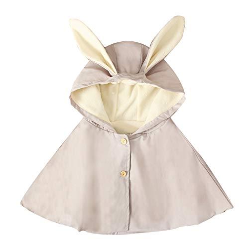 Manteau à capuche pour bébé, tout-petit, enfant ou fille, avec oreilles de lapin, vêtement décontracté. - Gris - Taille Unique