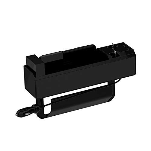Auto Aufbewahrungsbox Mittelkonsolen-Aufbewahrungsbox mit zweifacher USB-Aufladung für Brieftaschenschlüssel Handykarten Münzen Sonnenbrille,Aufladbar,Mit 2 Arten von USB-Ladekabeln