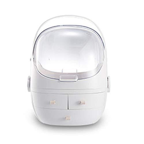 Stockage différents types de cosmétiques grande capacité de stockage de maquillage organisateur idéal pour salle de bain,White