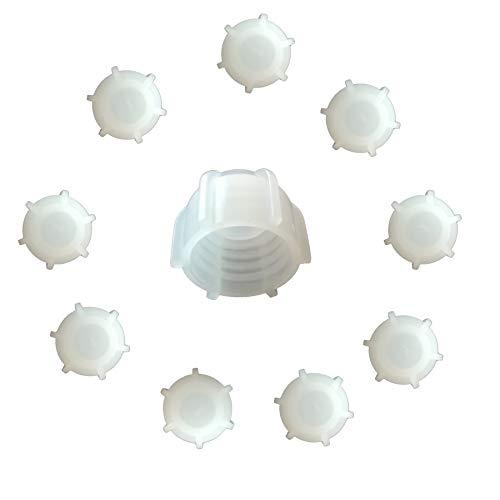 Kartuschenverschlusskappe 10 STÜCK Verschlusskappe für Kartuschen, Kartuschenverschluss mit Grobgewinde Schraubkappe Silikon Kartusche wiederverwenden und sicher verschließen Kartusche zumachen