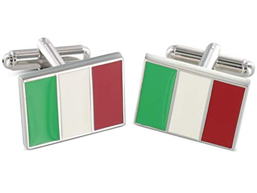 Teroon Grom Boutons de Manchette Italy Flag