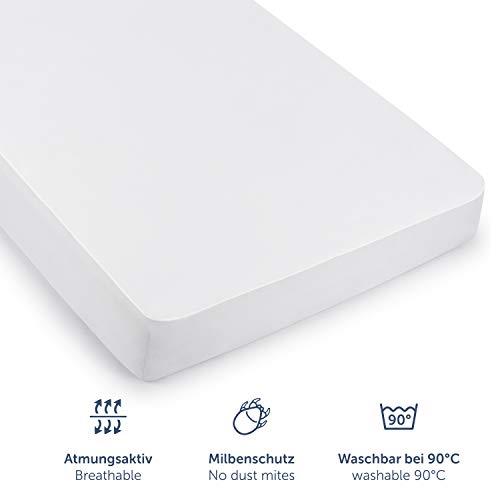 Blumtal Set de 2 Protector de Colchón Impermeable - Cubre Colchón de Algodón Transpirable y Antiácaros, con Elásticos en Todo el Contorno, 150 x 200cm