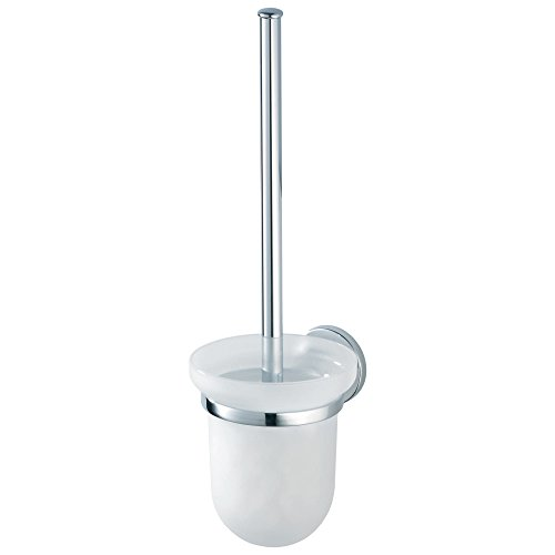 HACEKA aspen Toilettenbürstenhalter, verchromtes Metall mit Sicherheitsglas, 1118504