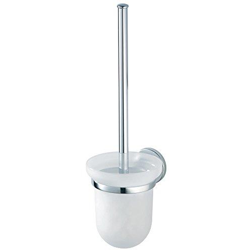 HACEKA aspen toiletborstelhouder, verchroomd metaal met veiligheidsglas, 1118504