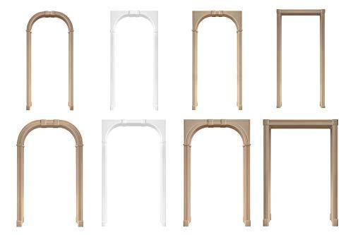 Durchgangszargen, Bausatz aus MDF unbehandelt - dekorative Türumrandung stabil & leicht, Auswahl Größe und Modell - (Reno S weiß) - Dufu, Durchgangsfutter, Türzarge, Zarge, Türrahmen