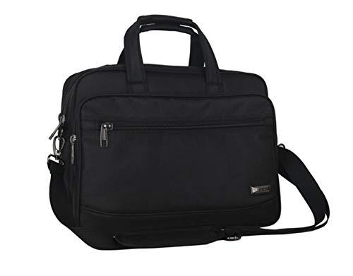 ASDFGH 14 inch Laptop Tas, Travel Aktetas met Organizer, Uitbreidbare Grote Hybride Schoudertas