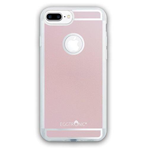 Eggtronic Qi Wireless Charging Case per iPhone 6 Plus / 6S Plus - Cover per Ricarica Wireless Qi (Rose Gold - Oro Rosa)