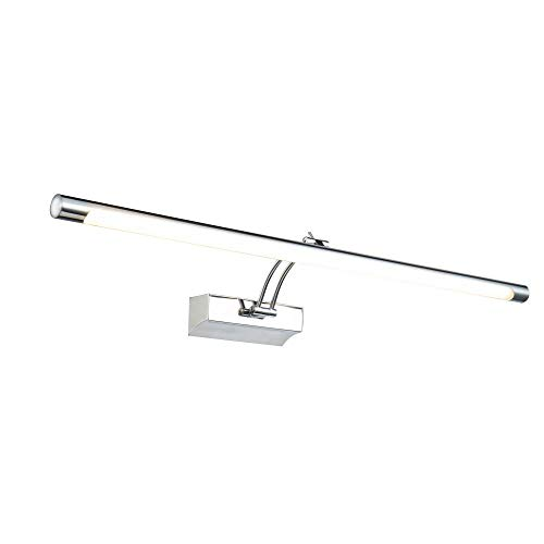 Moderne hochwertige LED-Bilderleuchte Spiegelleuchte Make-up Licht Spiegellampe Schminklicht Schminkleuchte Chrom Metallrahmen Winkel 120° inkl.1x 16W LED 1200 Lm 3000K IP20