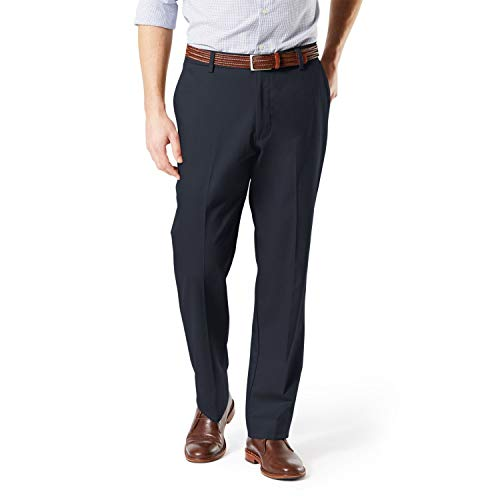 Dockers Men's Big and Tall Classic Fit Signature Khaki Lux Cotton Stretch Pants, Dockers Navy, 46 29