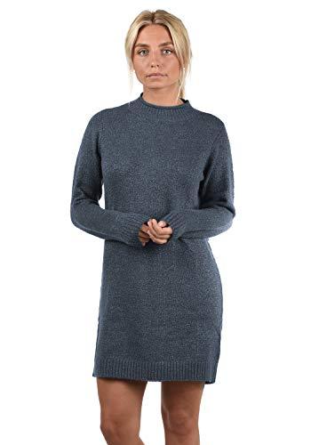 ONLY Wanja Damen Strickkleid Kleid Mit Stehkragen In Midi-Länge, Größe:M, Farbe:Night Sky