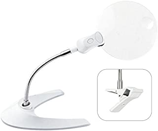 OttLite MG016INT5 | 5 inch LED 2 x Magnifier | Clip & Stand by Ott-lite