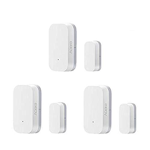 für Aqara Intelligent Window Door Sensor, Eamplest 3pcs Tür Fenster-Sensor ZigBee Version, Tür- und Fenstersensoren Home Alarm System, Work with Mijia and Apple HomeKit APP