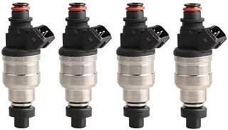 MOSTPLUS 52lb Fuel Injectors for Honda OBD1 OBD2 B16 B18 B20 D15 D16 D18 F22 H22 B-Series D-Series w/clips