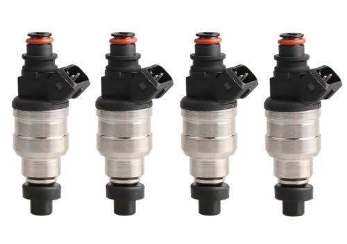 MOSTPLUS 370cc Fuel Injectors Compatible for Honda Acura Turbo Boost Plug & Play EV1 JDM VTEC B18 B20 D16 D18 F22 H22 H22A H23 B-Series D-Series w/clips