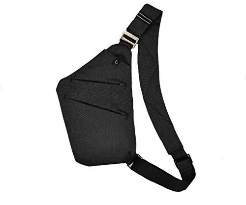 SUNSEATON Man-schoudertas, lichtgewicht crossbody-slingertas Multifunctionele rugzak voor gymschool, outdoor trekking, wandelen, reizen, kamperen