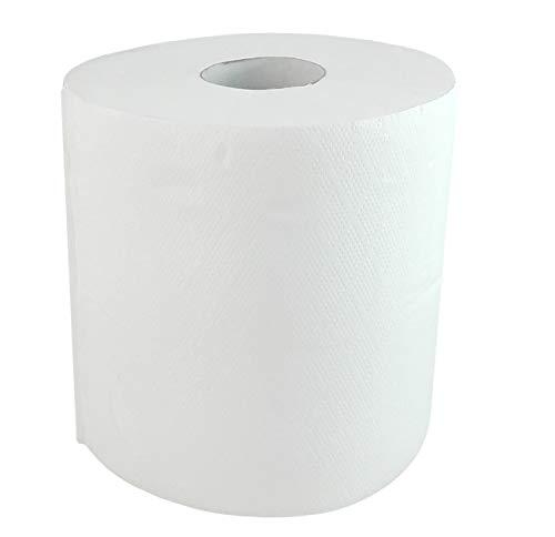 KADAX Küchenrolle, 2-lagig, Küchenpapier aus 100% Zellstoff, Papiertuch, geprägt, Küchentuch, Haushaltsrolle für Reinigung, Toilettenpapier, Haushaltspapier, weiß (1, 60 m)
