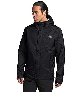 The North Face Men's Venture 2 Waterproof Hooded Rain Jacket TNF Black/TNF Black/Mid Grey M