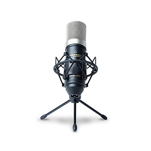 Marantz Professional MPM-1000 - Microfono a Condensatore con Diaframma Largo, Spugna Antivento, Sospensione Elastica, Treppiede e Cavo XLR