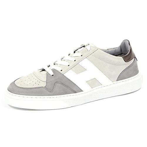 Hogan 4206J Sneaker Uomo Grey H365 Scarpe Suede/Leather Shoe Man [9.5]