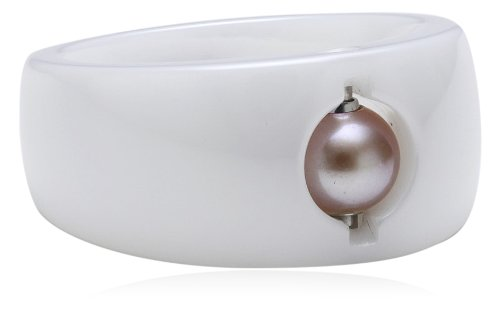 Charlotte Damen-Ring-Grundform Cha21 Ring d17,5 weiß Keramik 33-099292-d175