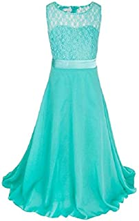 Fashionable Clothing Long Lace Chiffon Tube Top Princess Dress Children's Dress Piano Costume, Size:12/150cm(Pink) (Color : Apple Green)