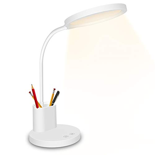 LED Desk Lamp,Golspark Touch Control Desk Lamp 3 Color Modes with Stepless Dimmable,360°Flexible...